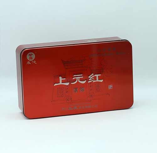 成都包装公司与某公司合作的马口铁盒