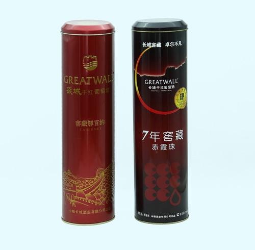 成都包装公司与某公司合作的马口铁酒罐