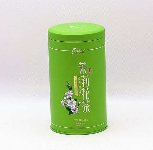 成都包装公司与某公司合作的花茶铁罐包装