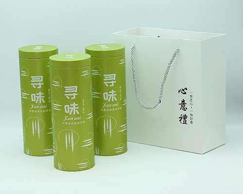 圆形茶叶马口铁罐