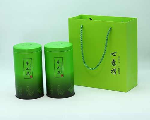 圆形茶叶罐(绿)