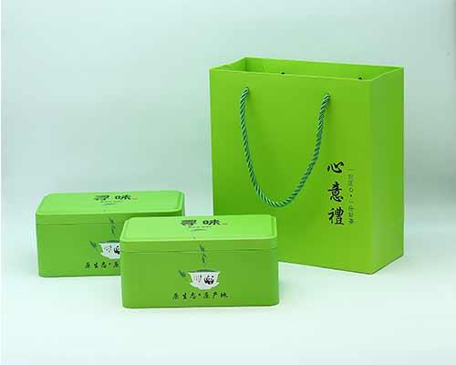 绿色茶碗马口铁罐